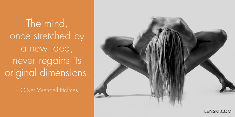 The mind, once stretched by a new idea, never regains its original dimensions. - Oliver Wendell Holmes