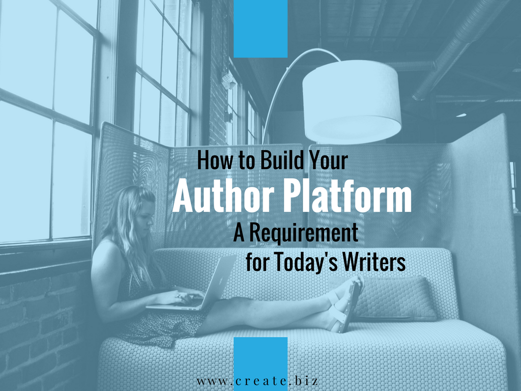An overview of how to create your writer platform with a website, blog, social media, and email strategy.