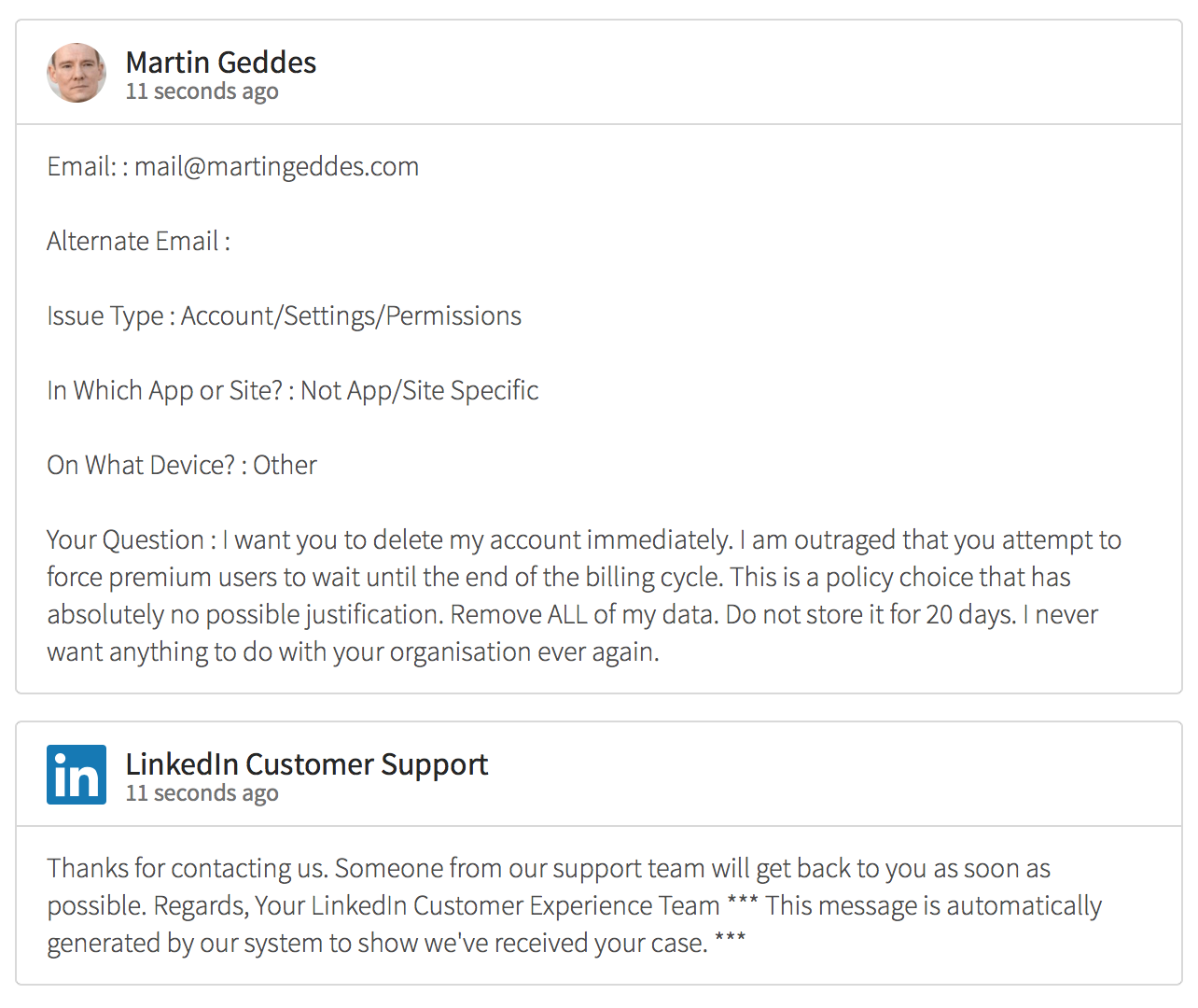 how to close my linkedin account
