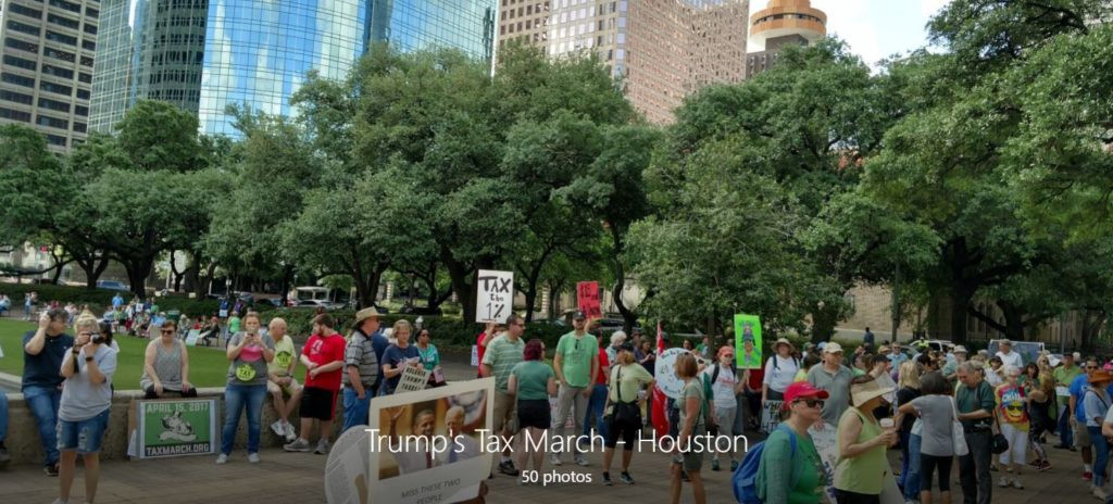 Trump's Tax March - Houston