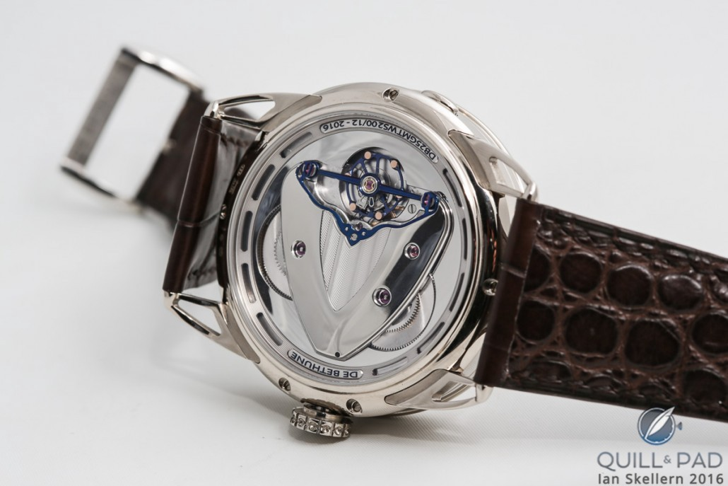 View through the display back of the De Bethune DB25 World Traveller