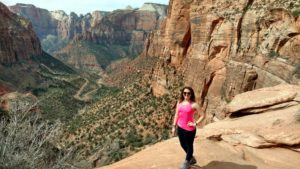 Me at the East Canyon Overlook in Zion National Park