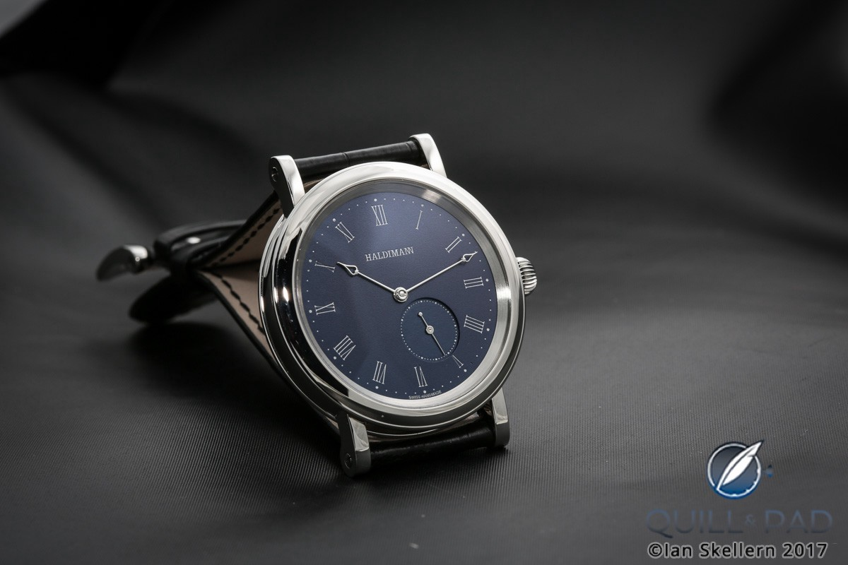 Beat Haldimann H12 with blue dial in stainless steel
