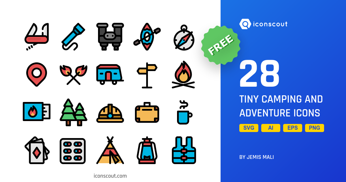 Tiny Camping And Adventure icons by Jemis Mali