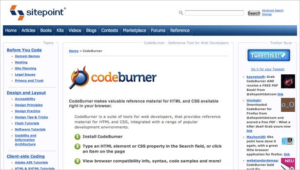 148 resources to help you become a css expert dotdev codeburner a plugin for firefox or firebug that makes html and css reference material available in your browser malvernweather Images