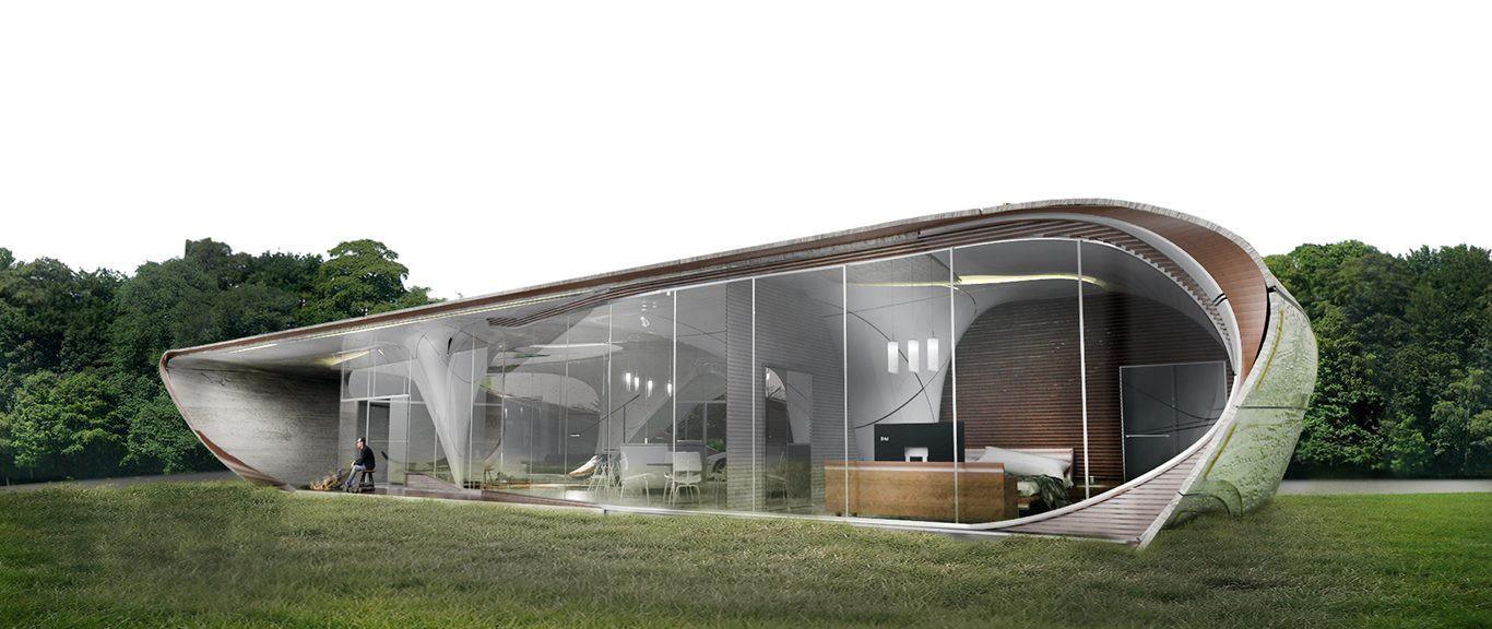 """World's first freeform 3D printed house """"rethinks"""" traditional architecture"""