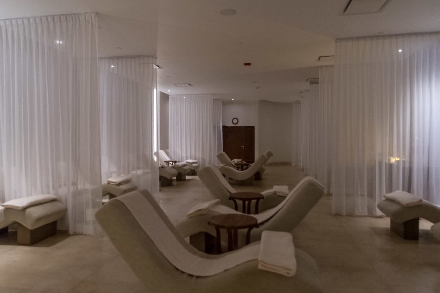 The relaxation lounge at Awe Spa at Moon Palace Jamaica Grande