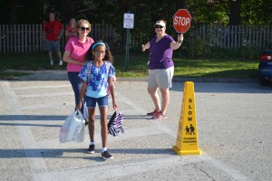 Sept. 4 marked the first day of school for students throughout the Evesham Township School District. At Evans Elementary School 10-year-old Madison Law walked with her grandmother Lynn Somers as Madison headed toward her first day of fifth grade.