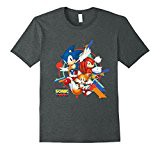 Official Sonic Mania Character T-shirt Male Medium Dark Heather