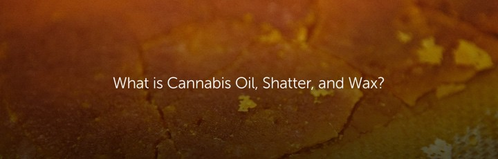 What is Cannabis Oil, Shatter and Wax?