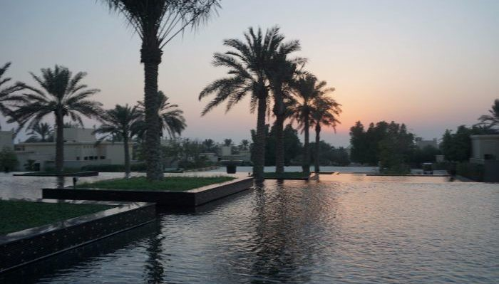 pools at the Al Areen Palace Bahrain