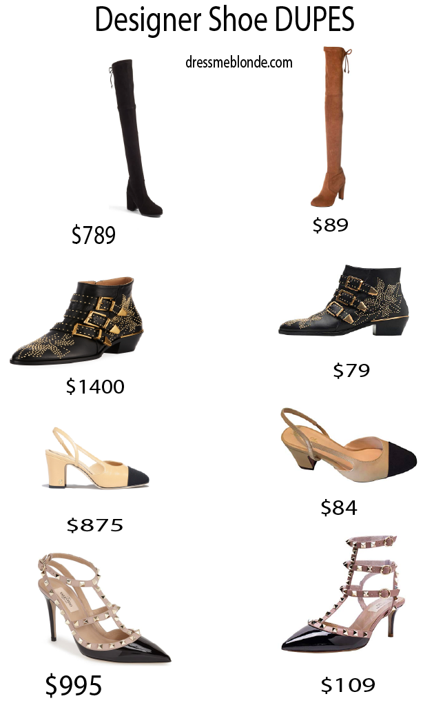 The Best Designer Shoe DUPES featured by top Orange County fashion blog, Dress Me Blonde