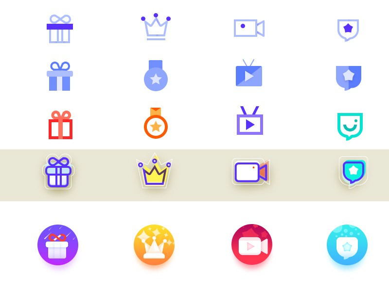 Icons in multiple theme by wangyuhang