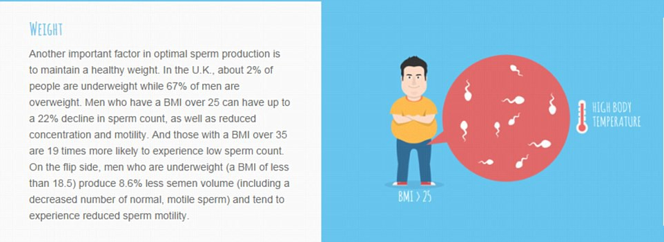 Sperm count sex every day