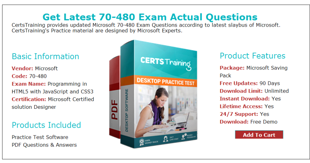 Latest And Updated Questions For 70 480 Exam Updated 2017