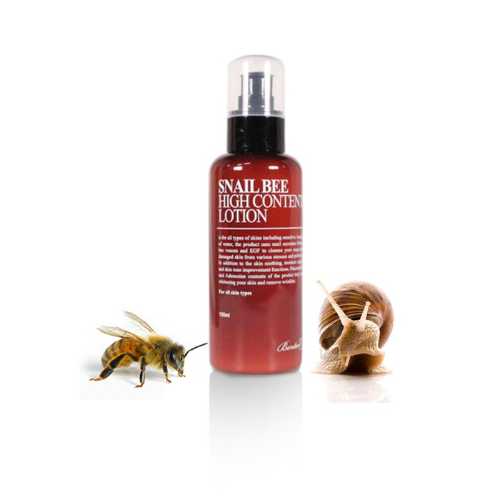 11 Unusual Korean Beauty Products with Really Weird Ingredients - benton snail bee high content-lotion