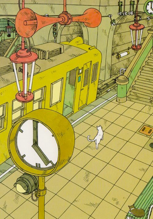 The Lost Cat, cat in a station