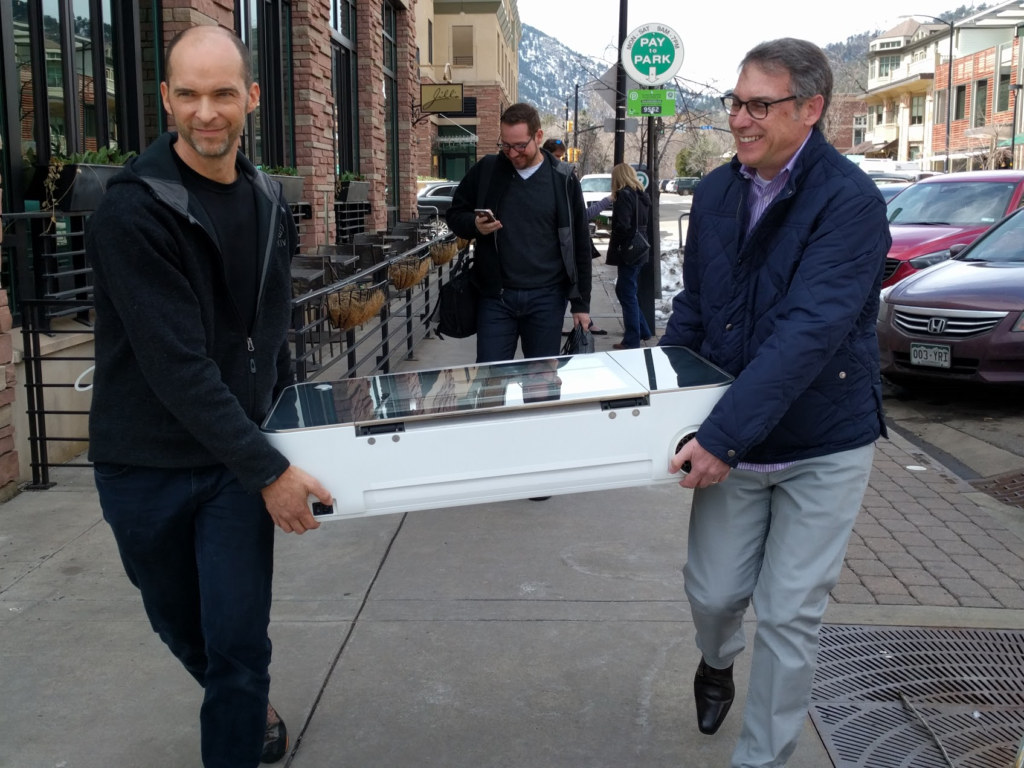 The first known Glowforge in Boulder