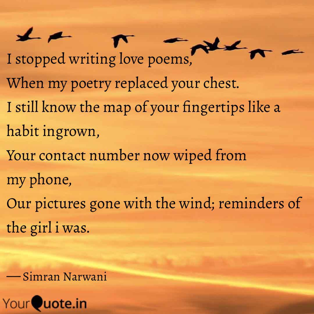 how to write a love poem to a girl