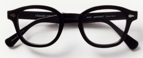 Classic Specs Amherst glasses in Carbon Black.