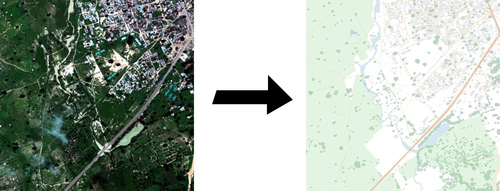 Automatic Satellite Image to Map View