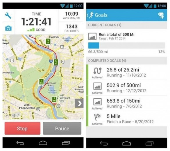 Android Runkeeper English