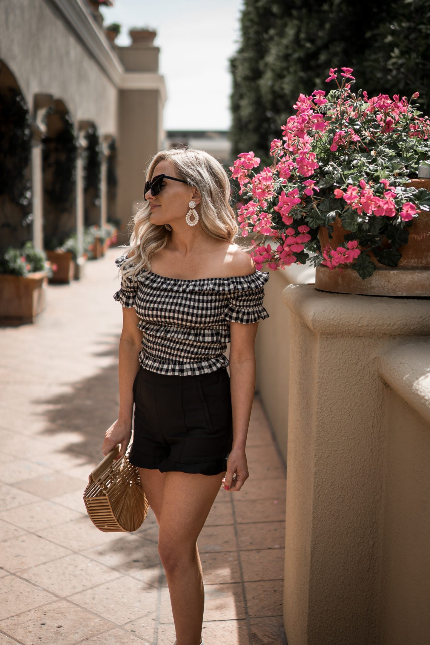 Gingham Outfit styled by popular Orange County fashion blogger Dress Me Blonde