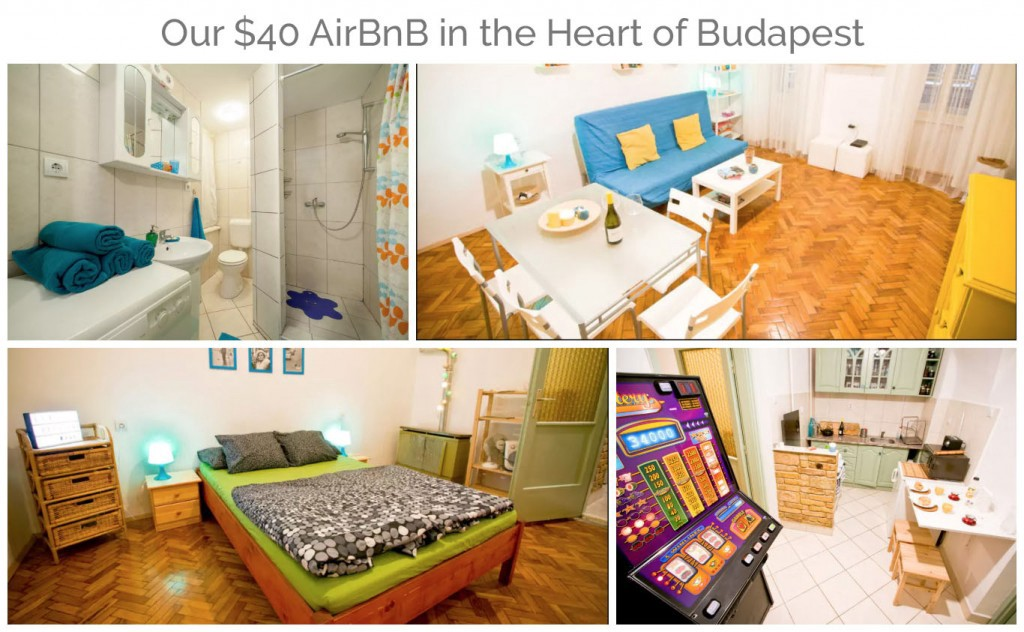 Our AirBnB in Budapest