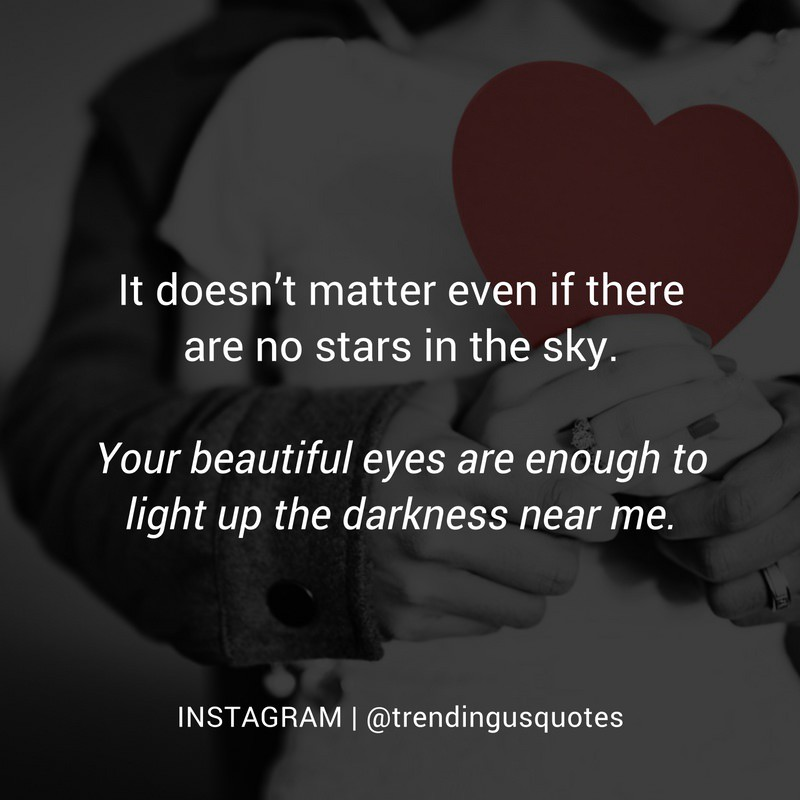 Your eyes can replace stars