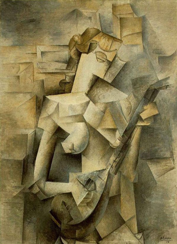 Girl with Mandolin, 1910 by Pablo Picasso