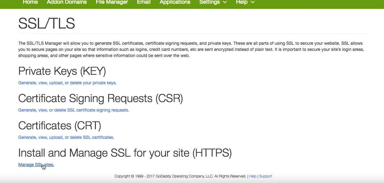 Install Lets Encrypt In A Shared Hosting Like Godaddy
