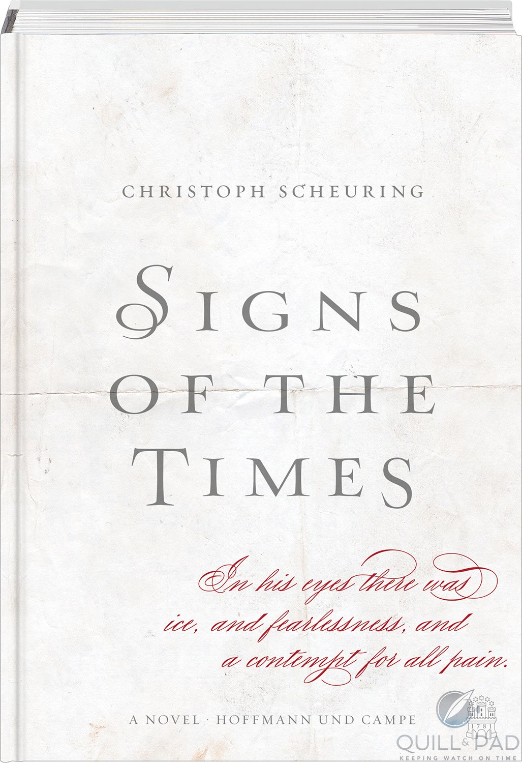 Cover of the historical novel 'Signs of the Times' by Christoph Scheuring