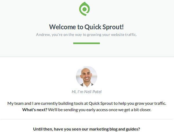 QuickSprout is a really comprehensive website audit, social media analysis and competitor report, all in one.