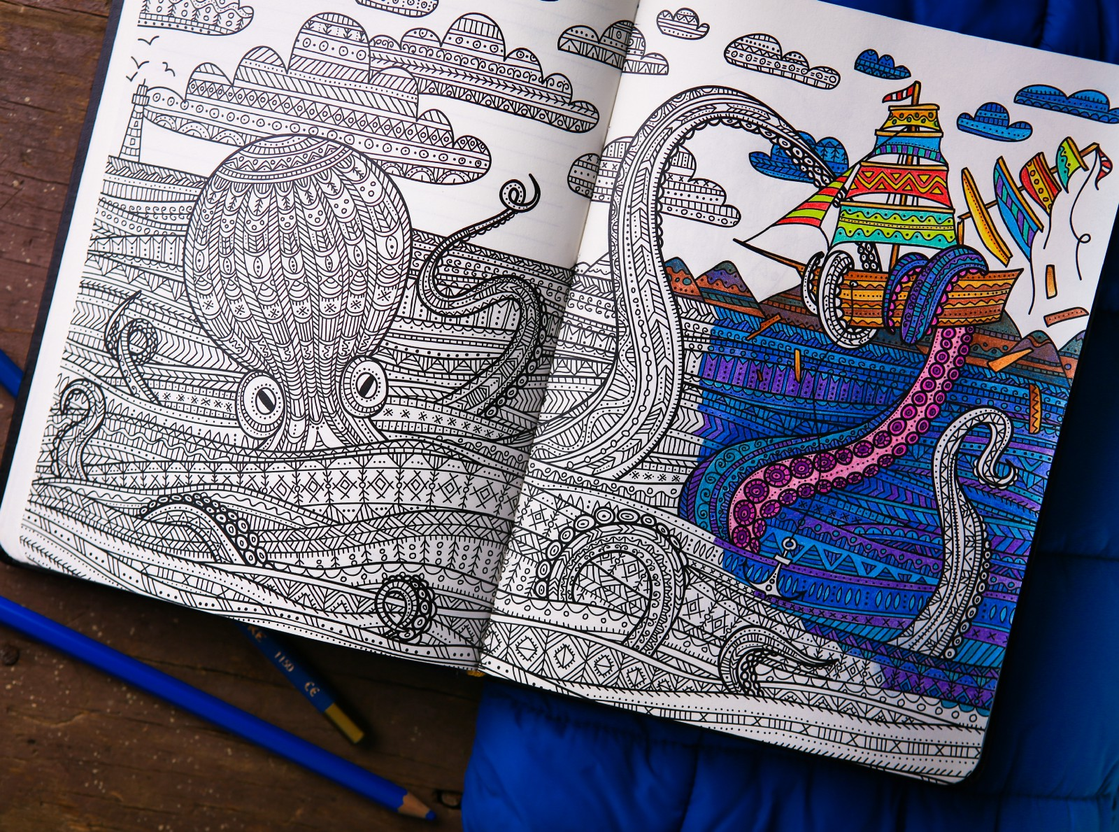 ColoringNotebook Adds A Coloring Book To A Stylish Notebook For ...
