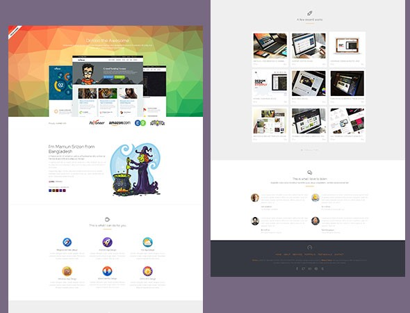pluton single page bootstrap template