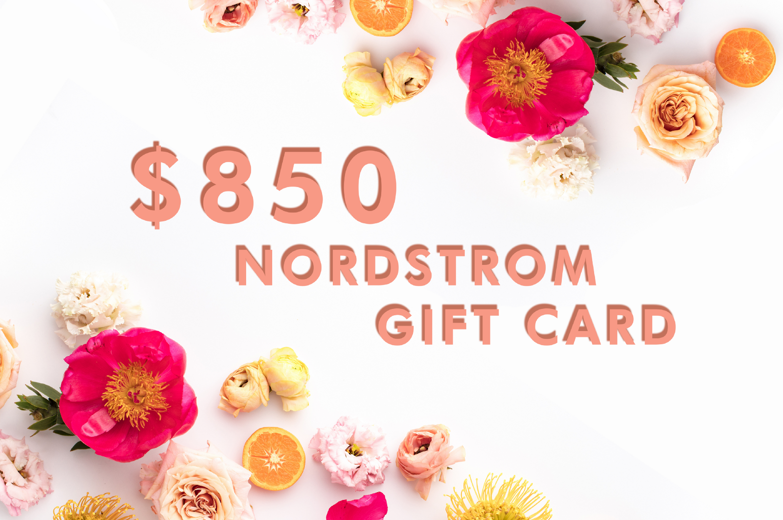 $850 Nordstrom Gift Card Giveaway