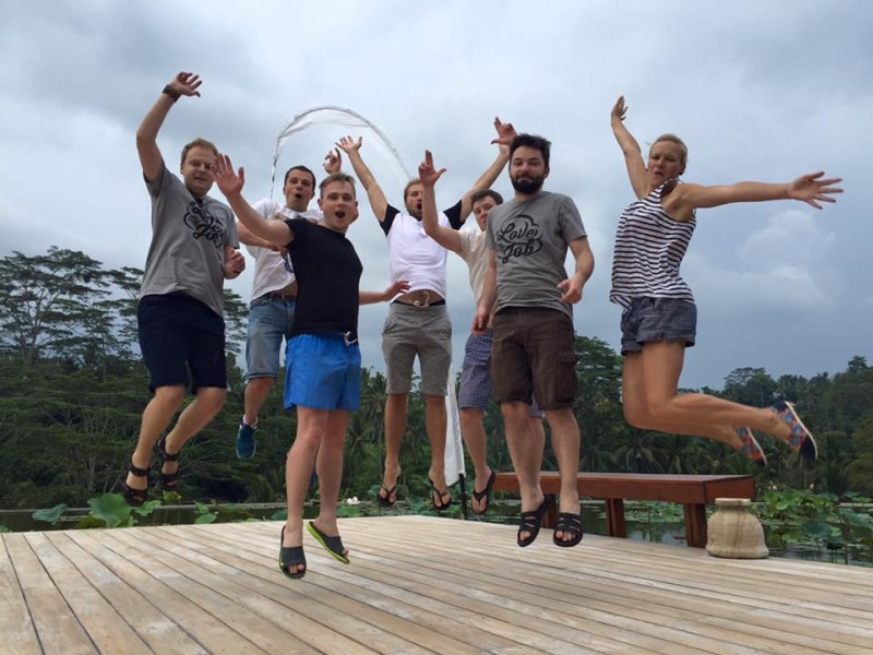Team MailerLite workcation in Bali ESP Email Marketing Service Provider