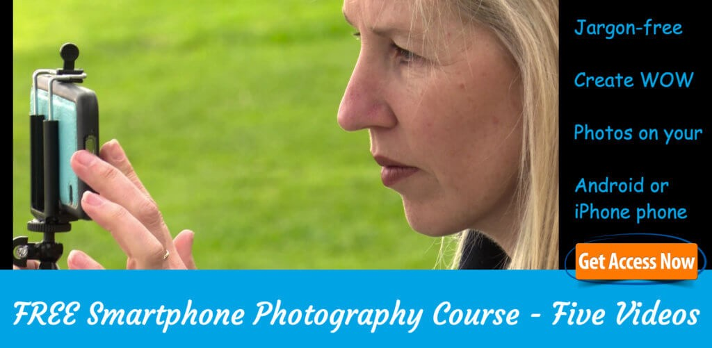 Free iPhone and Android device photography course - Smartphone Photography Training