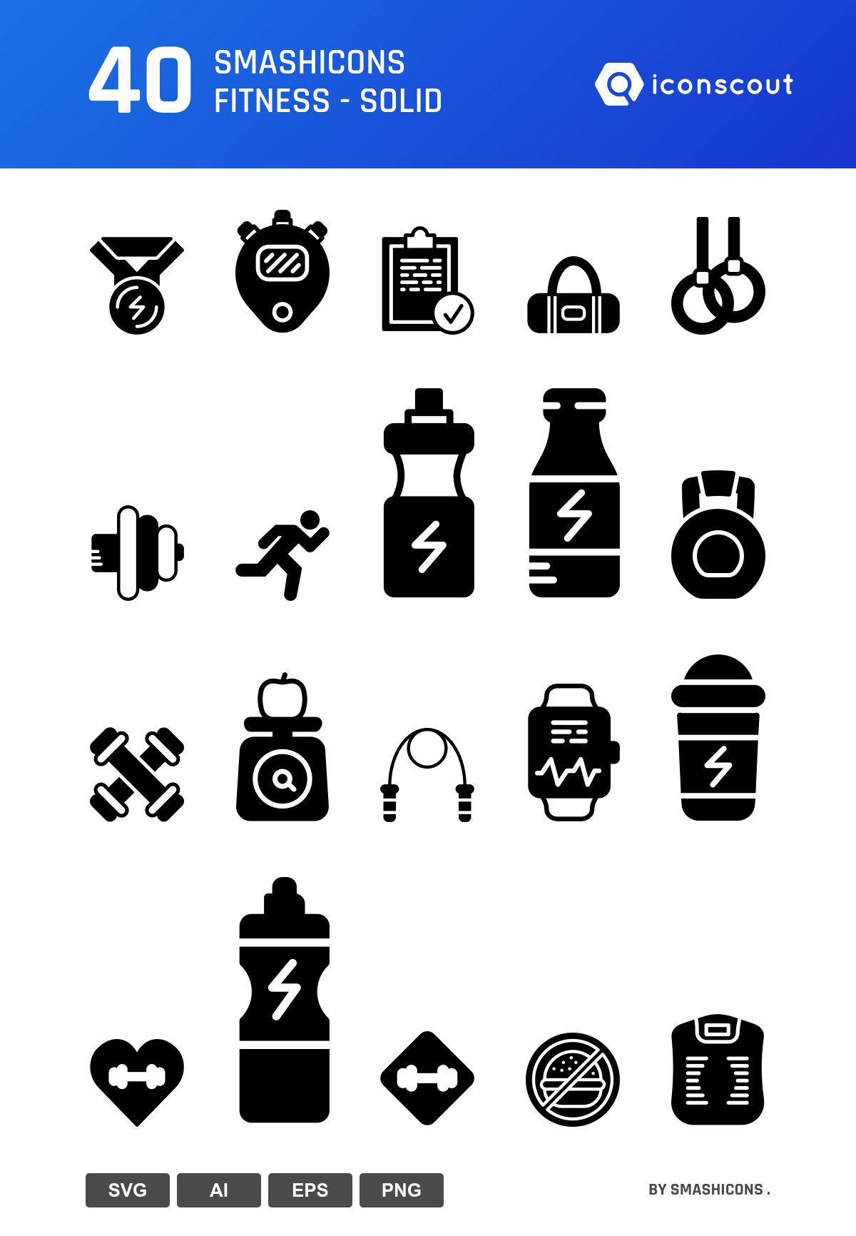 Smashicons Fitness - Solid icons by Smashicons .