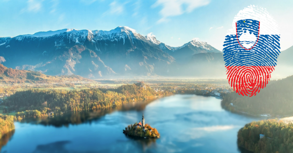 this image shows lake bled in Slovenia
