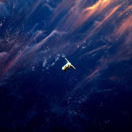 This breathtaking sunset photo of a spaceship is a great example of perfect timing