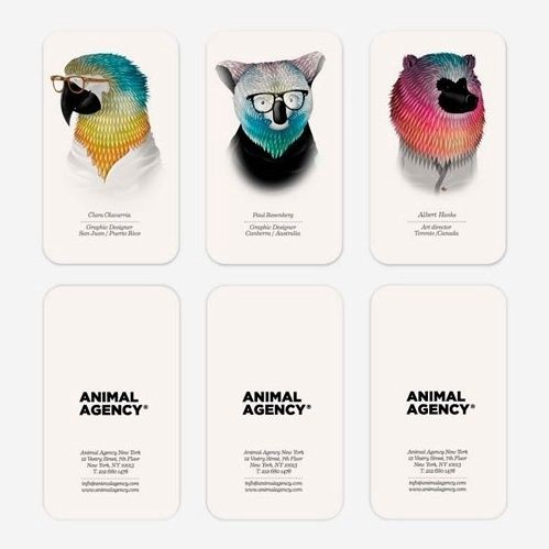 Print design inspiration 1330 from up north animal agency business cards colourmoves
