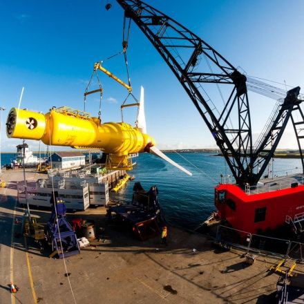 First power drawn from tidal turbines off the coast of Scotland