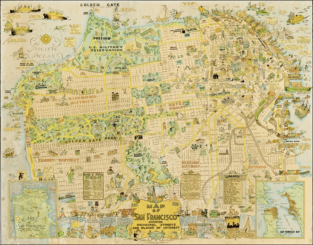Cartoon Map Of SF Is Awesome And Adorable The Bold Italic - Vintage sf map