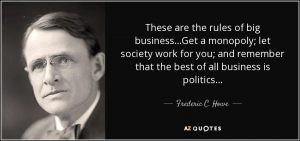 F.C. Howe quote about business rules