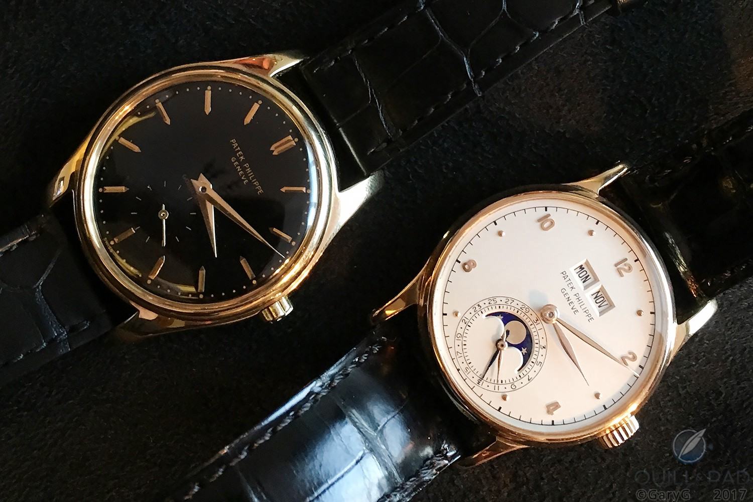 Two-watch vintage collection? Patek Philippe References 2526 (at left) and 1526