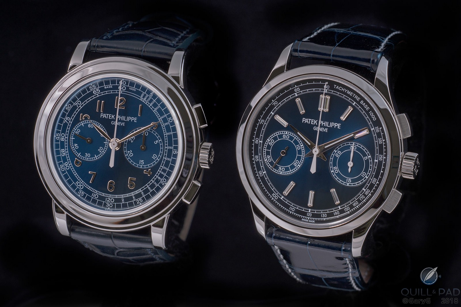 Side by side: Patek Philippe Reference 5070P-013 and Reference 5170P