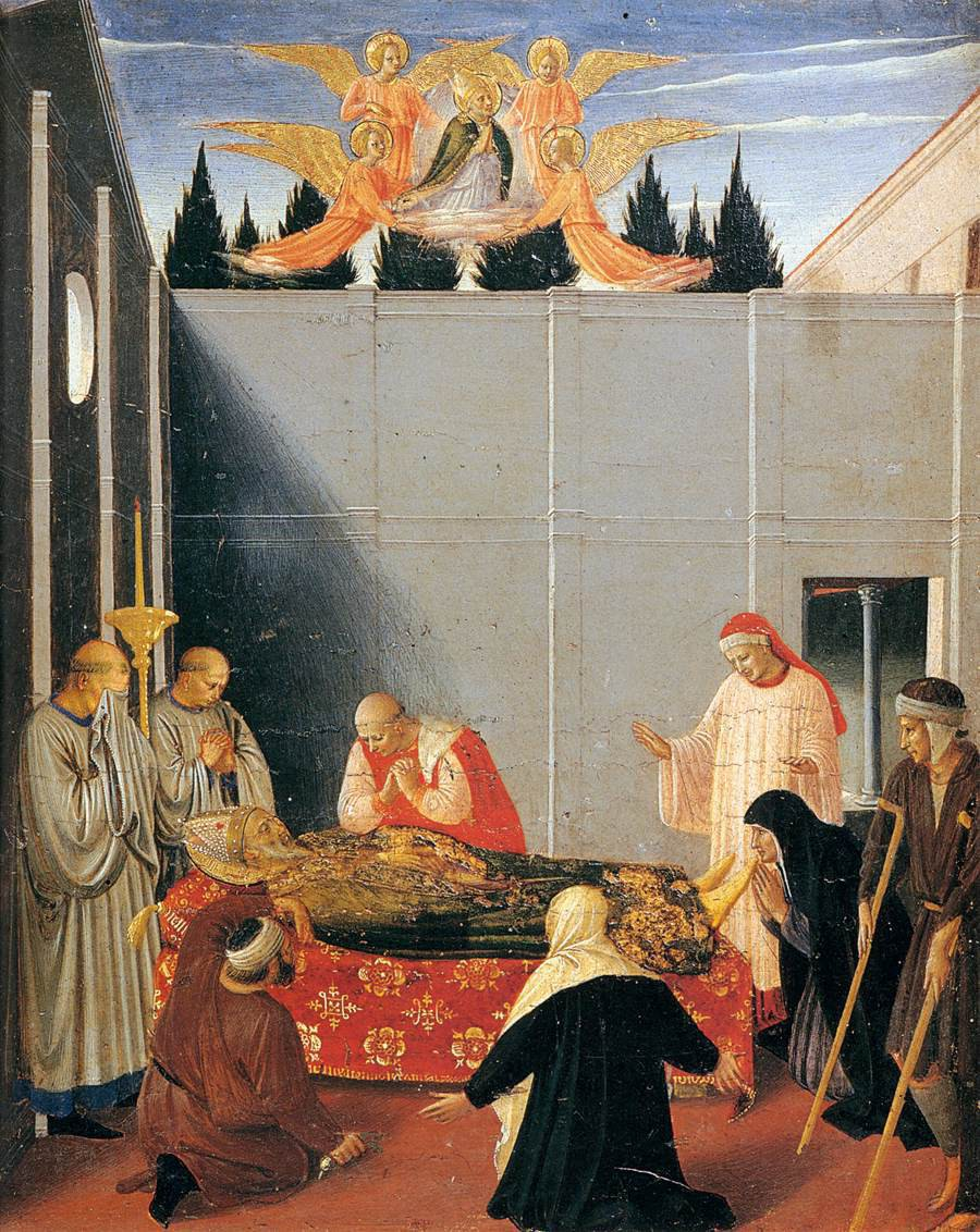 Fra Angelico, The Story of St. Nicholas, The Death of the Saint, 1447-48, tempera and gold on panel, Galleria Nazionale dell'Umbria, Perugia, Italy
