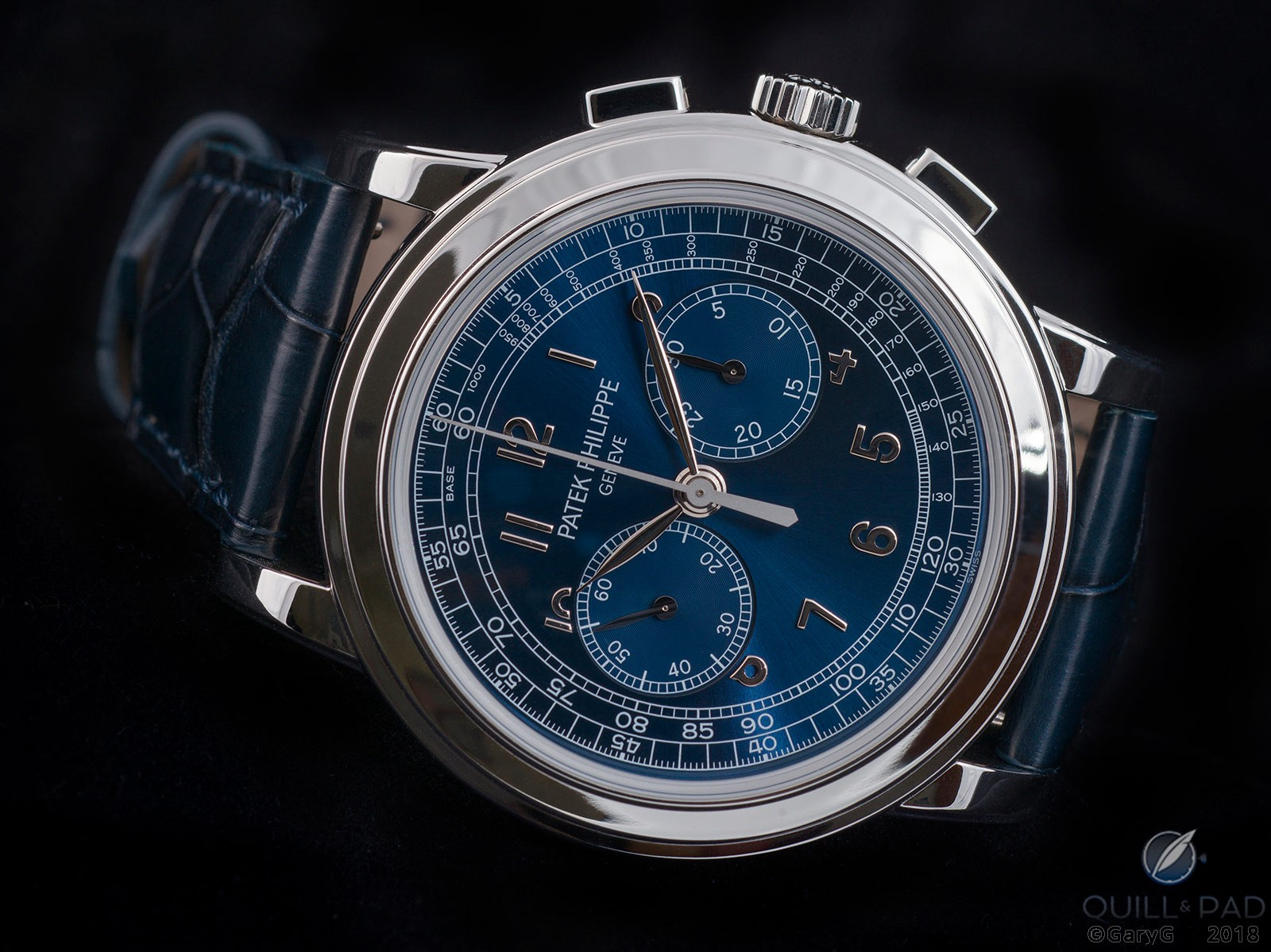 Brighter blue – I think: Patek Philippe Reference 5070P-013