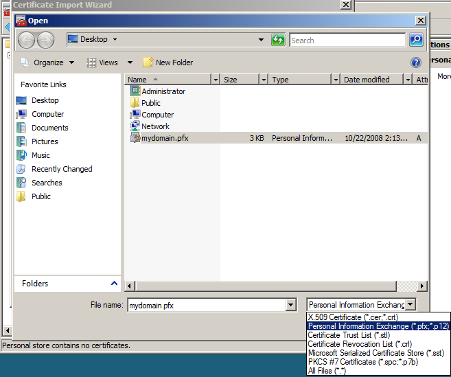 How To Move Or Copy Ssl Certificates From A Windows Server To